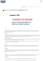 home blogs things to know about nri investment