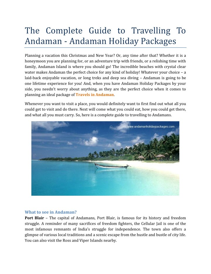 the complete guide to travelling to andaman n.