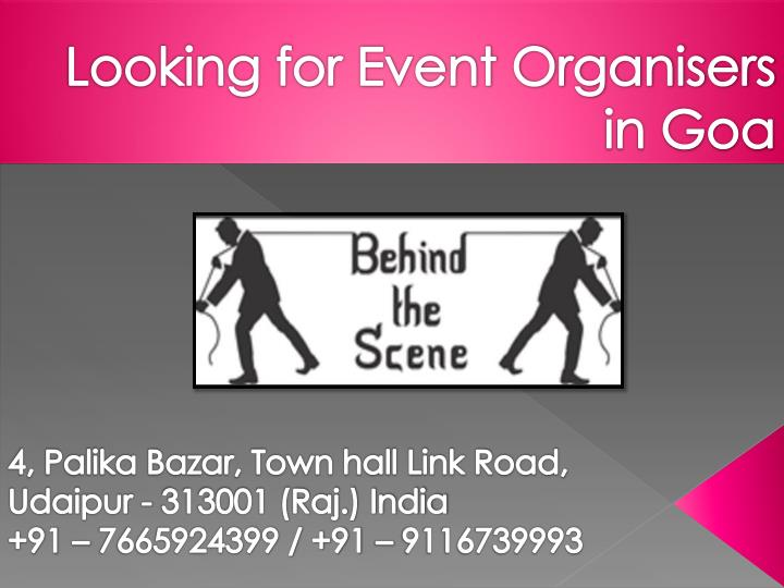 looking for event organisers in goa n.