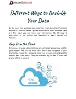 different ways to back up your data