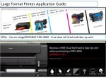 large format printer application guide