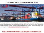 cis logistics services providers in delhi