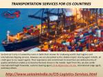 transportation services for cis countries