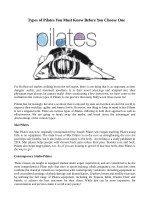 types of pilates you must know before you choose