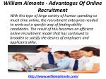 william almonte advantages of online recruitment 2