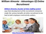 william almonte advantages of online recruitment 3
