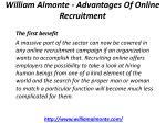 william almonte advantages of online recruitment 4