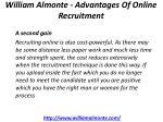 william almonte advantages of online recruitment 5