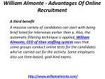 william almonte advantages of online recruitment 6