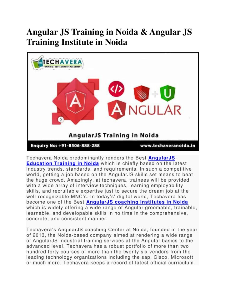 angular js training in noida angular js training n.