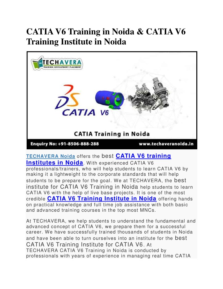 catia v6 training in noida catia v6 training n.