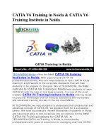 catia v6 training in noida catia v6 training