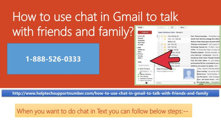 how to use chat in gmail to talk with friends and family n.