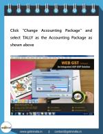click change accounting package and select tally