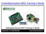 embedded system 8051 training in noida