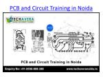 pcb and circuit training in noida