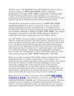 hana projects techavera offers sap hana training