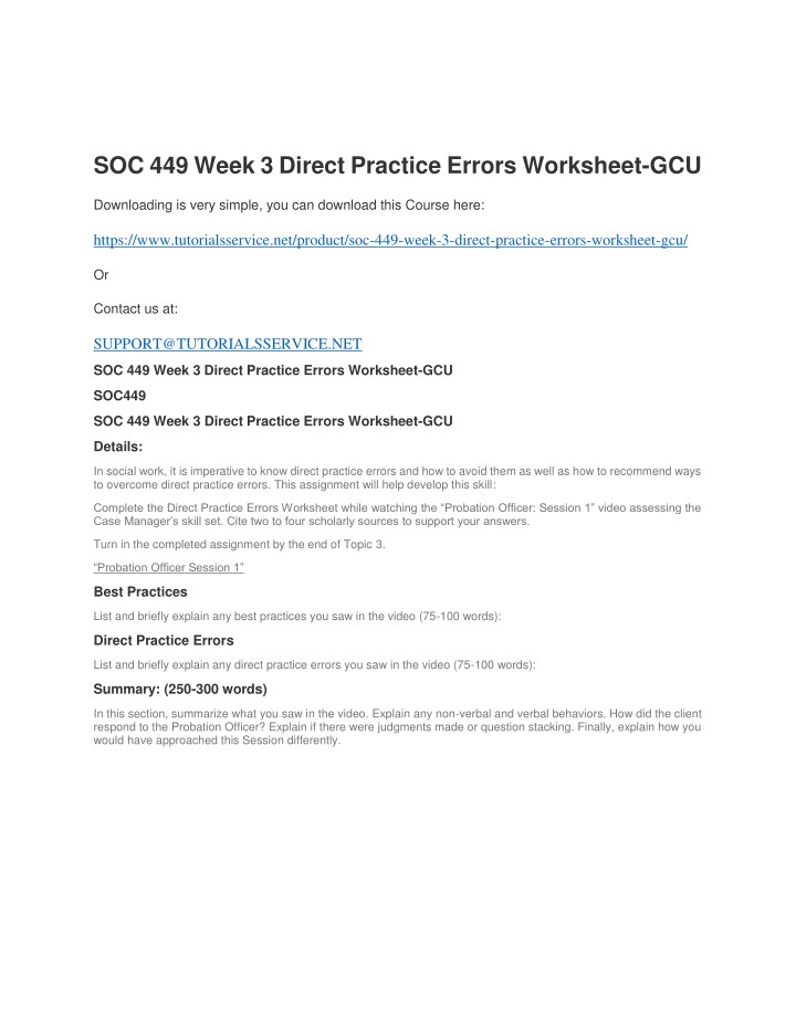 soc 449 week 3 direct practice errors worksheet n.