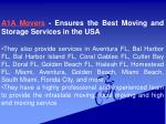 a1a movers ensures the best moving and storage