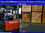 about a1a movers and their storage and moving