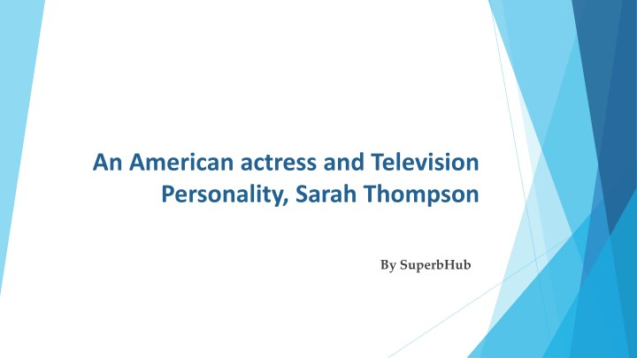 an american actress and television personality n.