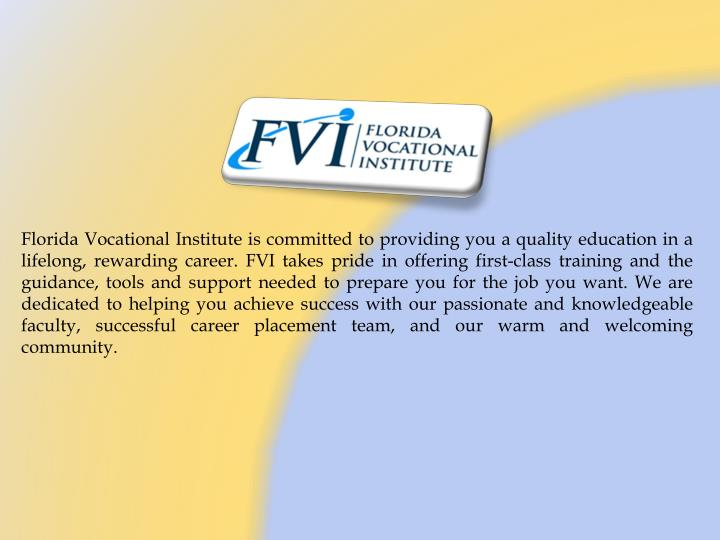florida vocational institute is committed n.