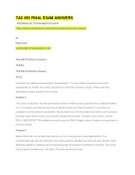 tax 655 final exam answers