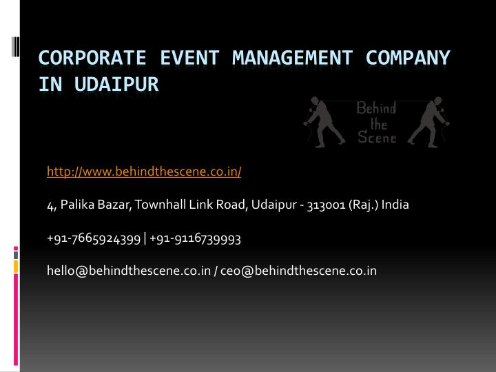 corporate event management company in udaipur n.