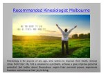 recommended kinesiologist melbourne