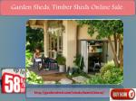 garden sheds timber sheds online sale 1