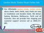 garden sheds timber sheds online sale