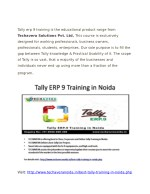 tally erp 9 training is the educational product