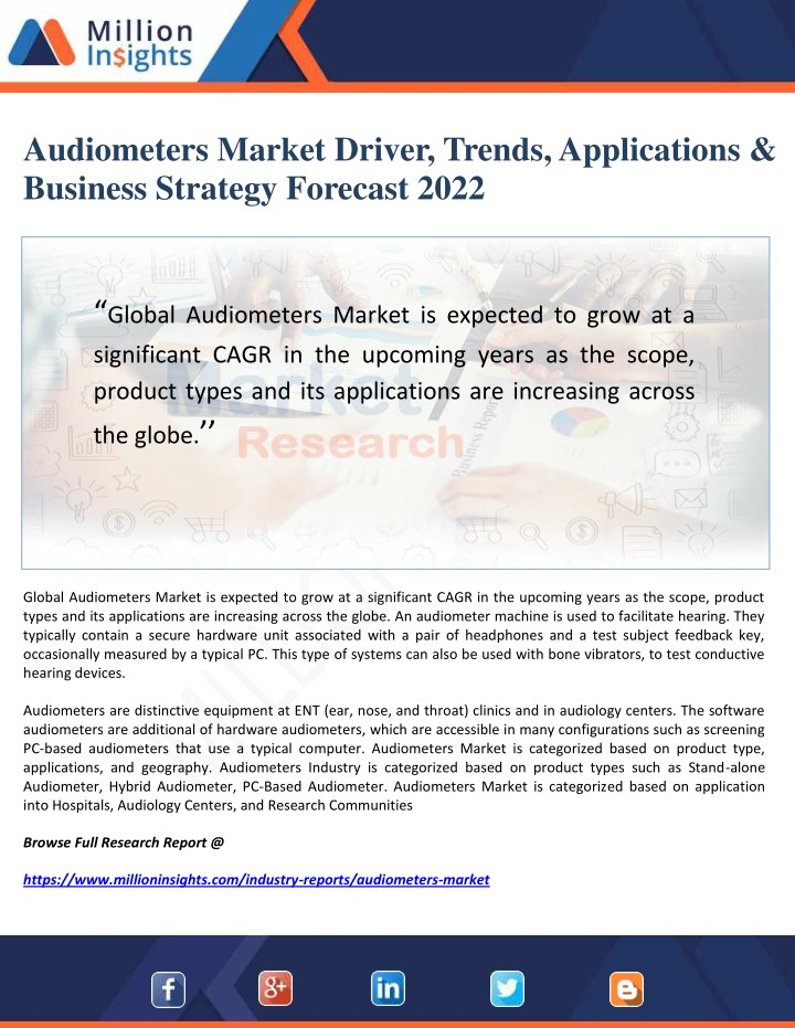 audiometers market driver trends applications n.