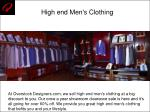 high end men s clothing