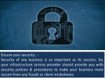 ensure your security security of any business