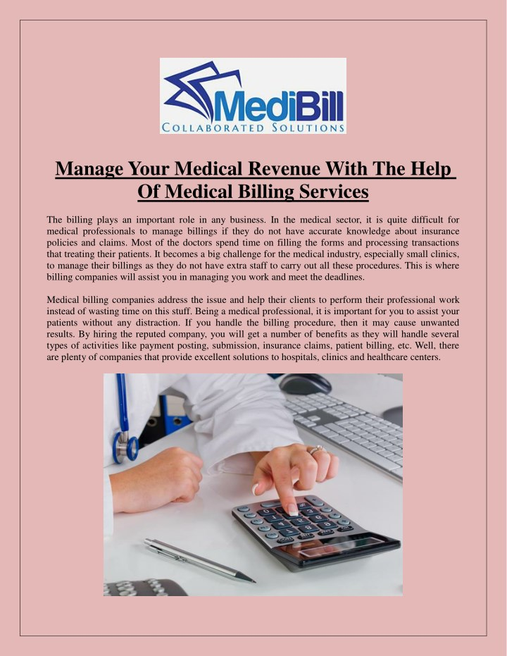 manage your medical revenue with the help n.