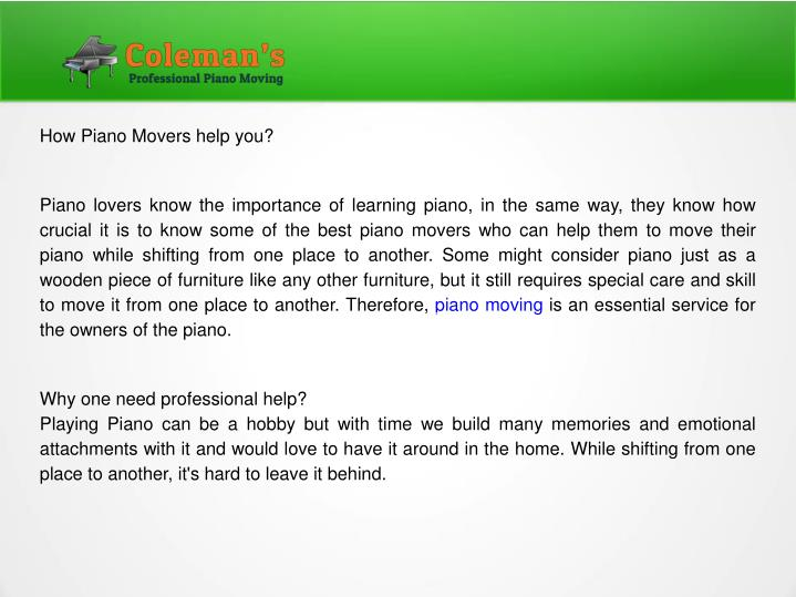 how piano movers help you piano lovers know n.