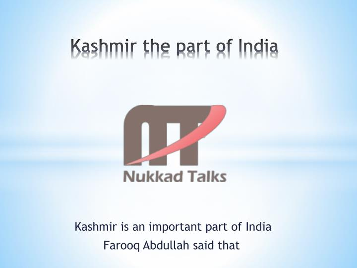 kashmir the part of india n.