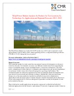 wind power market analysis by product by test