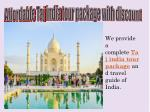 affordable taj india tour package with discount