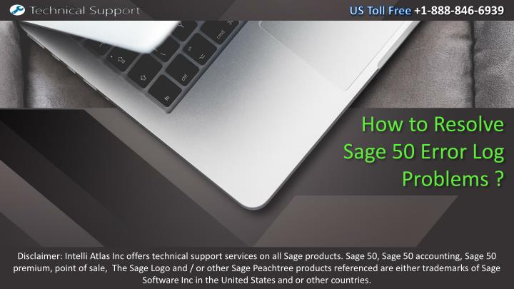 how to resolve sage 50 error log problems n.