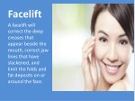 facelift a facelift will correct the deep creases