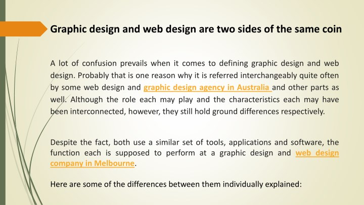 graphic design and web design are two sides n.