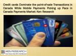 credit cards dominate the point of sale