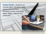online study students are seeking higher