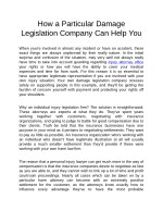 how a particular damage legislation company