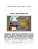 the ten best cheap electric guitars