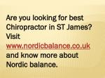 are you looking for best chiropractor in st james