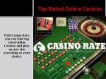 top rated online casinos 1