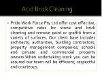 acid brick cleaning